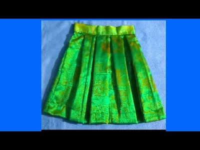 How to cut and stitch box pleated skirt