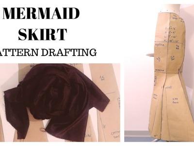 How to Draft Pattern | Mermaid Skirt.6 Panel Skirt (Part I)