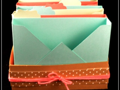 How to make a card organiser using the envelope punch board