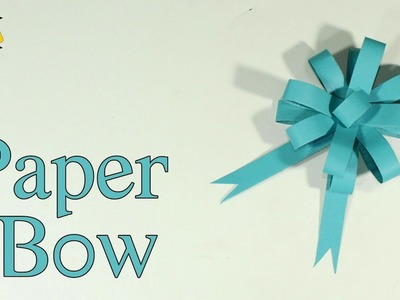 How To Make A Paper Bow   DIY Easy Paper Bow Gift Wrap   Best Craft Idea   Gift Wrapping