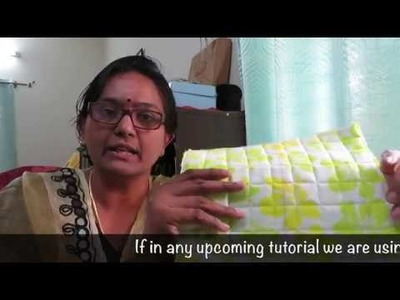 How to make a Quilted piece. Sivakasi Samayal Express 42