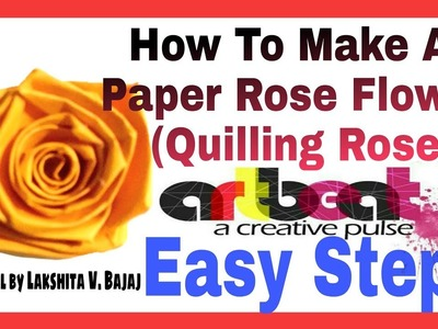 Paper quilling rose flower making flowers healthy how to make a rose from paper stripe quilling rose flower mightylinksfo