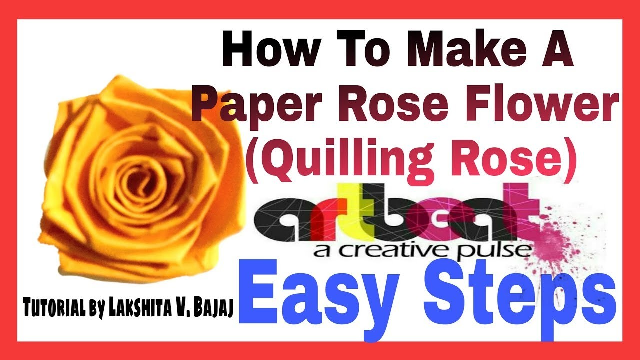 How To Make A Rose From Paper Stripe Quilling Rose Flower