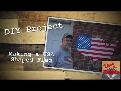 How to make a USA shaped flag from pallets