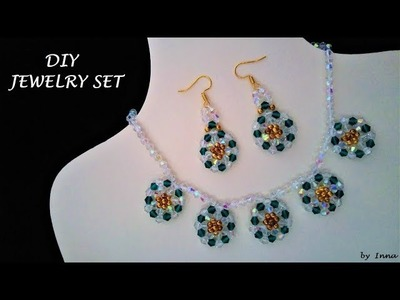 How to make beaded necklace and earrings set at home