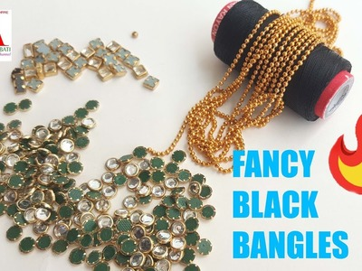 How to make designer silk thread Bangles using ball chain at home