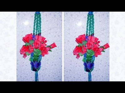 How to make flower hanging Macrame at home video