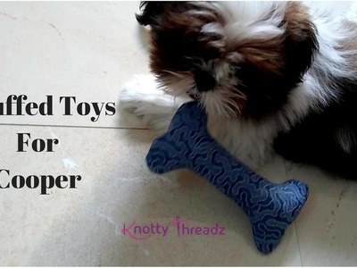 How to make stuffed toys for Puppies or Pets | DIY Fabric Bones | Cooper | www.knottythreadz.com