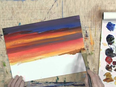 How to Paint a Colorful Sunset Using Lukas Berlin Oils