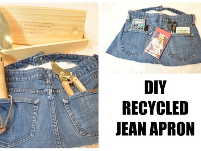 How to Recycle Old Jeans into an Apron | Free No Sew DIY
