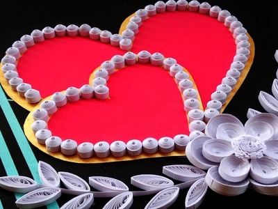 #PaperQuilling | Beautiful heart shaped Greeting card | Indian Tradition