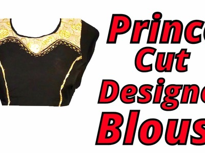 Prince cut designer blouse cutting and stitching