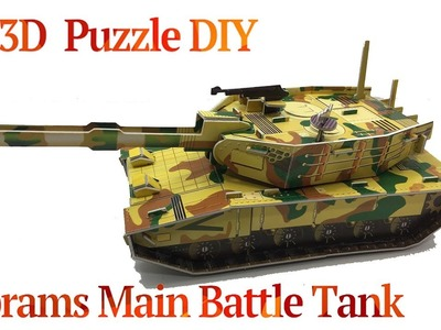 3D Puzzle DIY, How to Assembly Abrams Main Battle Tank
