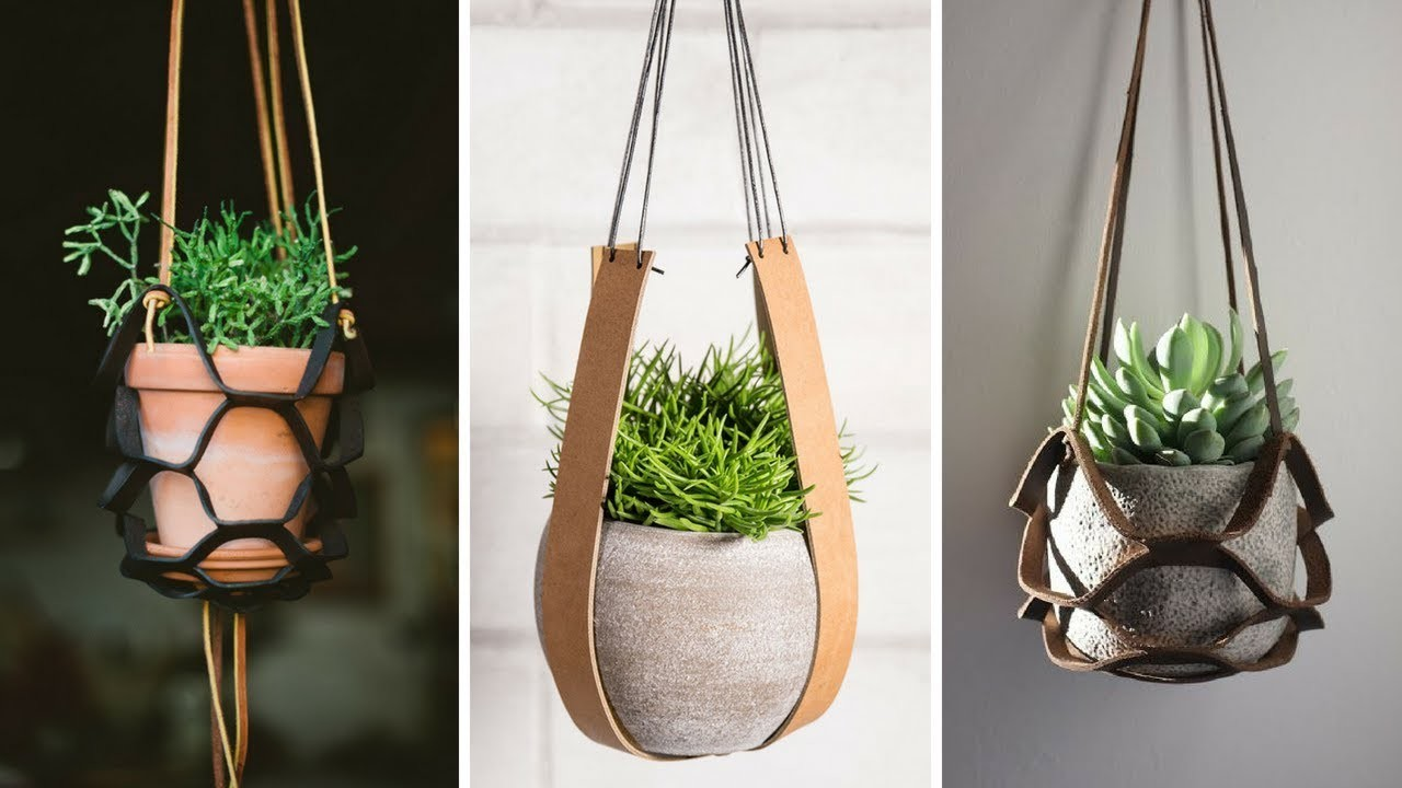 ???? 5 Cheap and Unique Leather Plant Holder Ideas Every Garden Lovers Should See ????