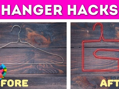 Awesome Hanger Hacks! Useful Tricks And Hacks You Can Do With Clothes Hangers | A+ hacks