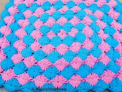 Bavarian Blanket Crochet-Crochet Baby Blanket-Rectangular Baby Blanket for Beginners