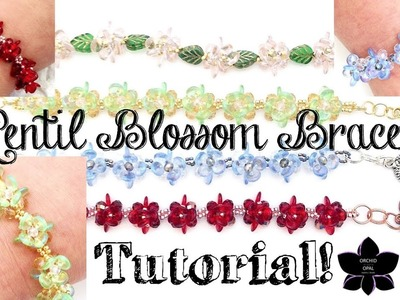 "Beaded ""Lentil Blossom"" Bracelet Tutorial - Bead with Me!"