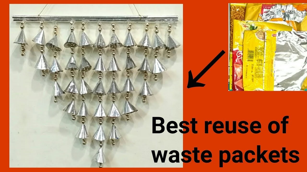 Best Reuse of Waste Packets || DIY Room Decor || DIY Wall Hanging ||