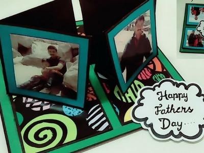 Birthday card for fathers | 4 way twisting easel card tutorial | diy friendship day card ideas