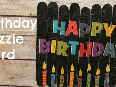 Birthday Puzzle Card