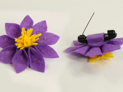DIY Crafts for Girls- Felt Flower Brooch Pin for Dresses