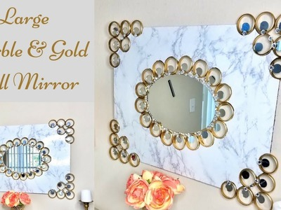 Diy Luxurious Marble Wall Mirror Decor| Simple and Inexpensive Wall Mirror Idea!
