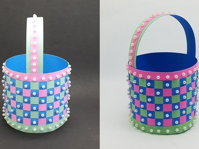 DIY Paper Basket making instruction - Easter and Christmas Gift Basket