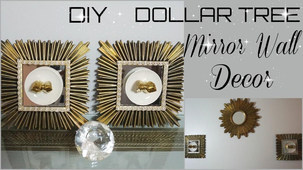 Diy Quick And Easy Dollar Tree Mirror Wall Decor Diy Inexpensive