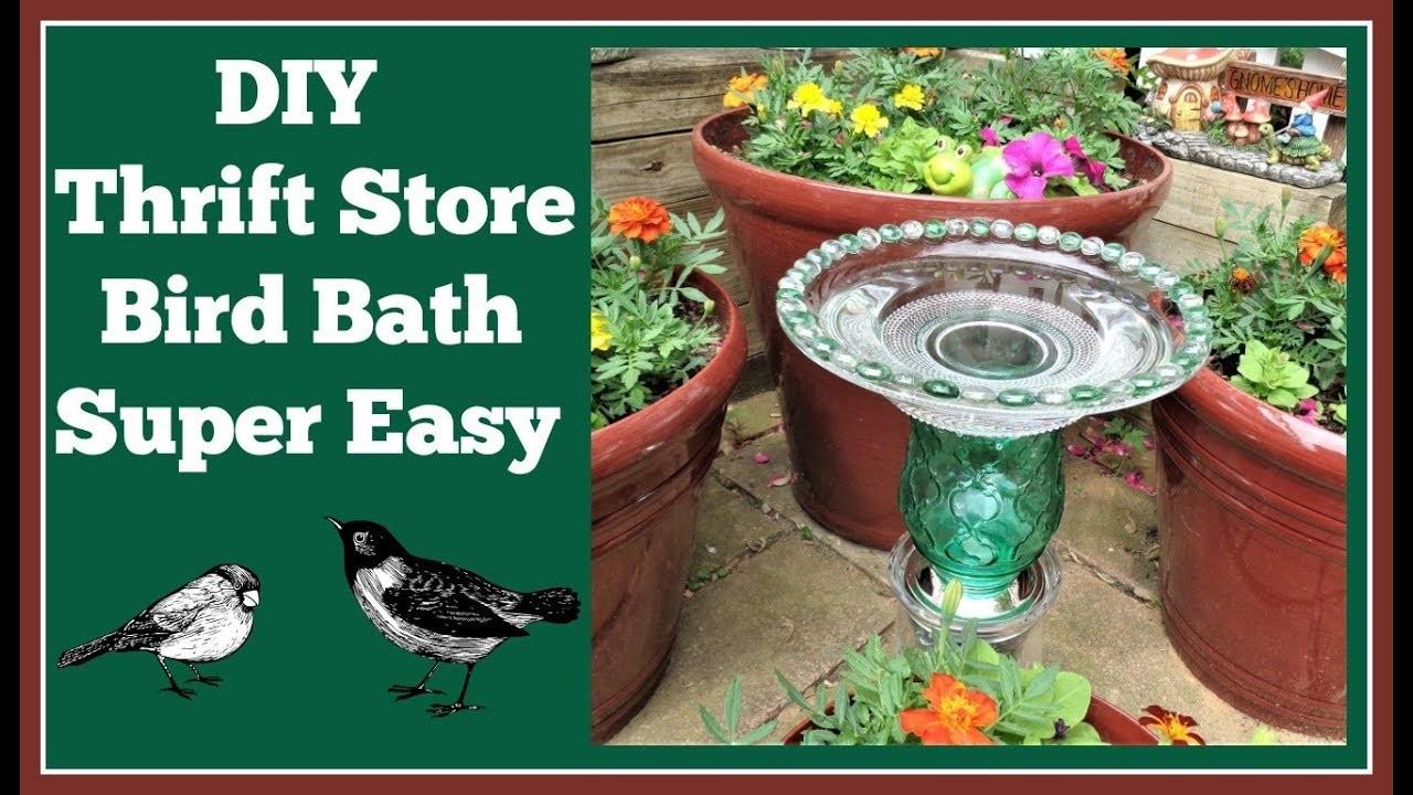DIY Thrift Store Bird Bath ????