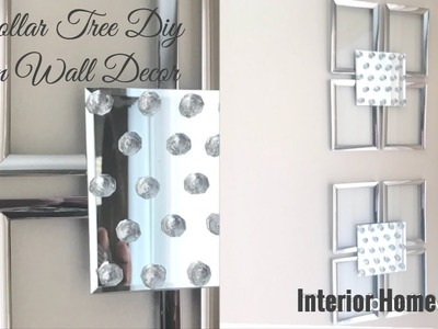Dollar Tree Diy. Glam Wall Decor. Interior Home Decor