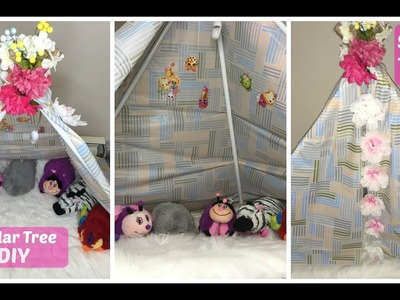 DOLLAR TREE DIY KIDS TEEPEE