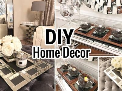 Dollar Tree DIY Mirror Trays! | Home Decor Ideas 2018