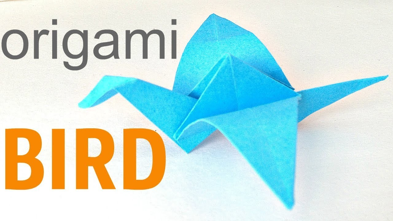 Easy Origami For Kids Origami Bird Flapping Wings Easy Paper Birds