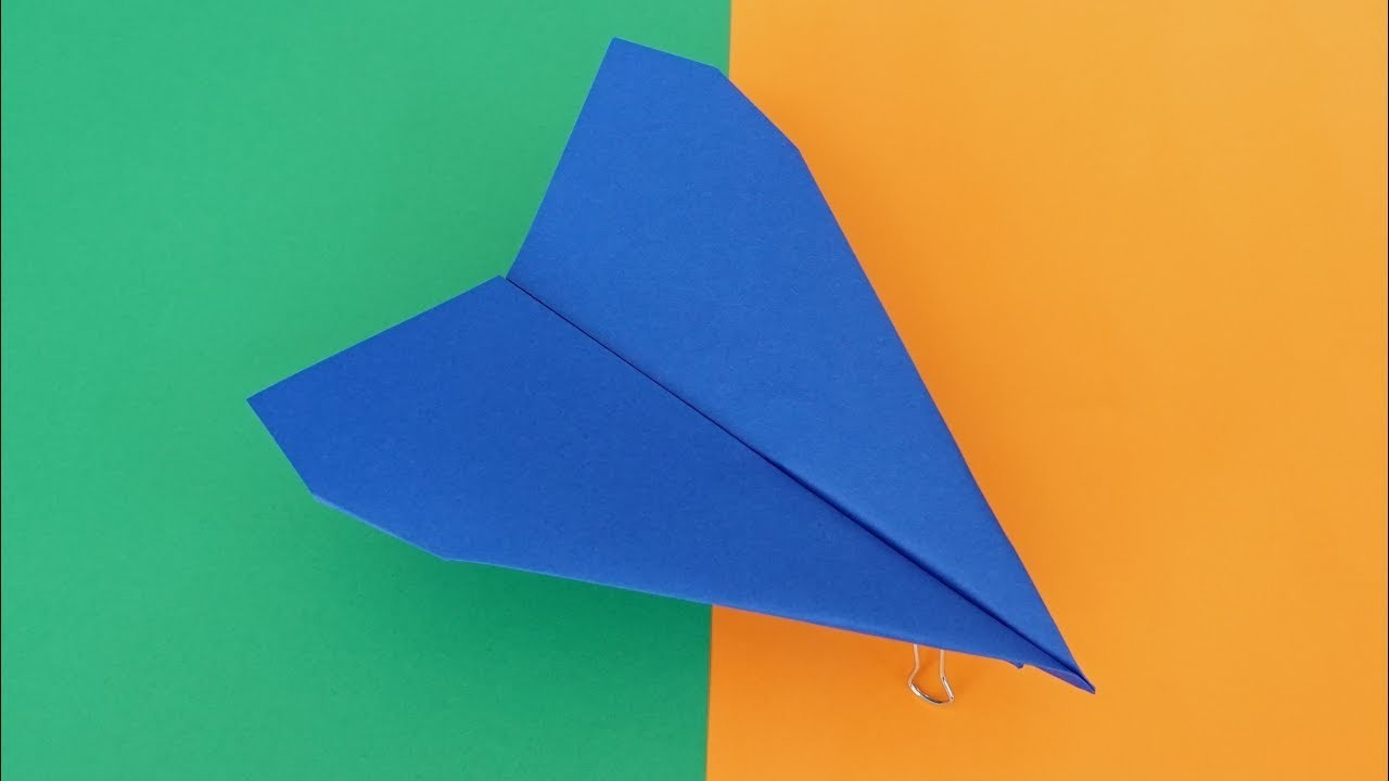 Easy Paper Airplane with a Free Template, Designed by Foldable Flight! - Blue Baron