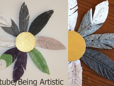 Easy way To Make Yarn Feathers - Feather Wall Hanging - DIY - Handmade
