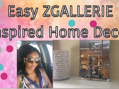 GLAM ZGALLERIE Inspired Dollar Tree Mirror DIY| Interior Home Design
