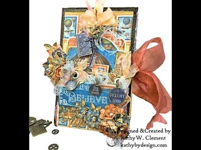 Graphic 45 Imagine Collection Steampunk Tag Box Folio