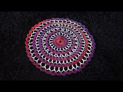 How to Crochet 18'' Lace Doily Pattern #738│by ThePatternFamily