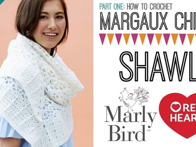 How to Crochet Margaux Chic Shawl [Left Handed] PART 1