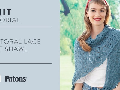 How to Knit the Pastoral Lace Shaw
