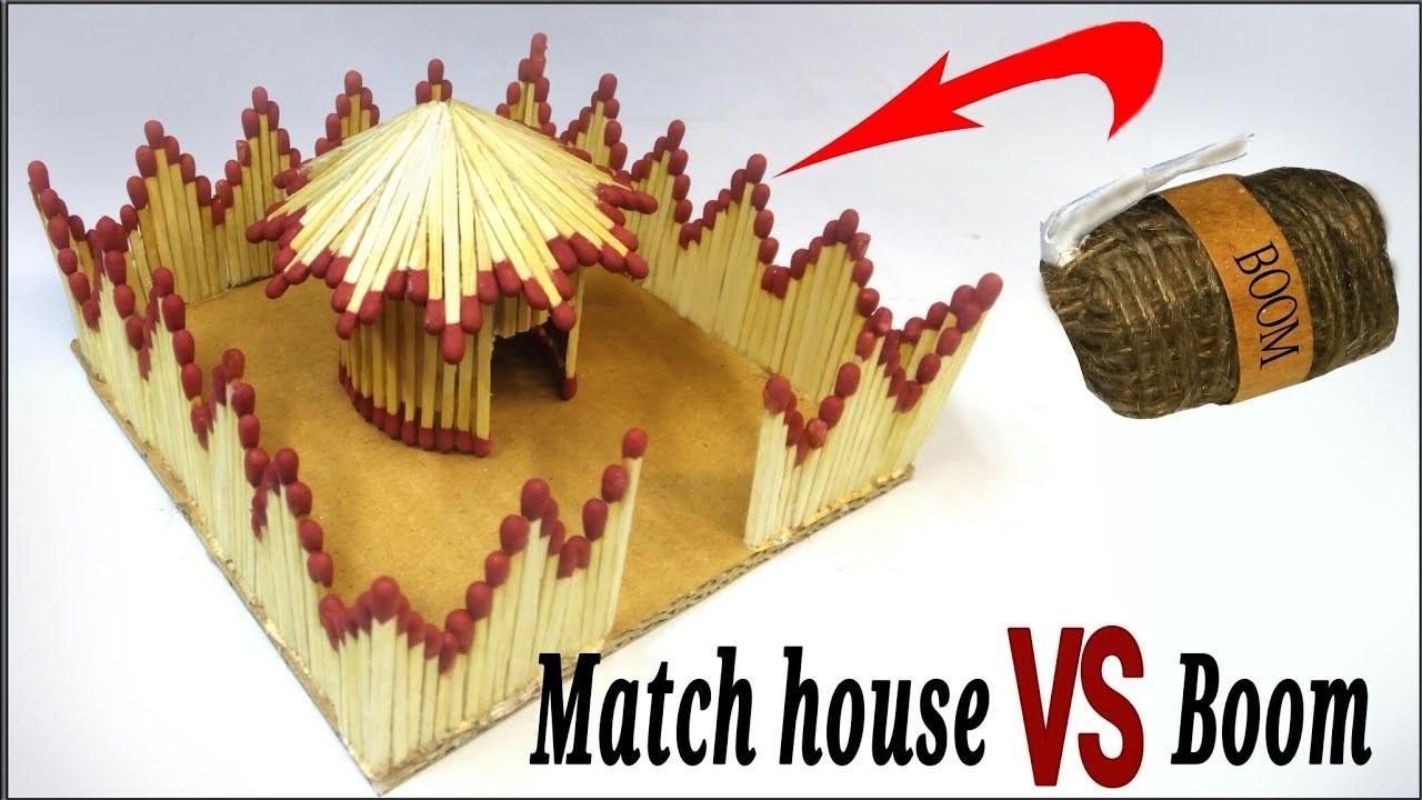 How to make a Match sticks fire hut - Match home