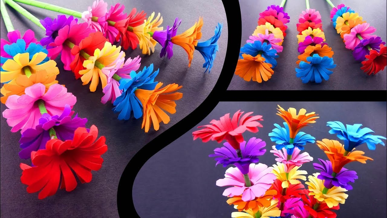 How To Make A Sticky Gift Flower Easy Flowers Making Handmade Gift