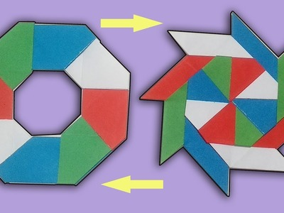 How To Make Awesome Paper Transforming Ninja 8-Blade Star - Origami Arts