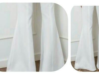 How to make bell bottom pant stylish bell bottom pant cutting stitching full tutorial