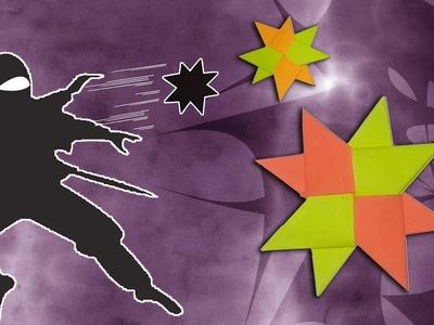 "How To Make ""DOUBLE NINJA STAR"" - Origami Arts"