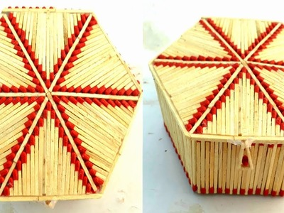 How to make matchstick jewelry box | gift box making from waste matchstick | gift box.