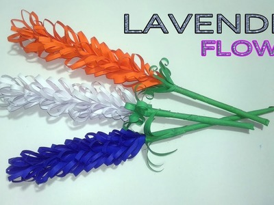 """How To Make """"PAPER LAVENDER FLOWER"""" in EASY STEPS - Simple Origami Arts"""