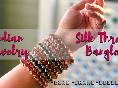 Indian Jewelry | Silk Thread Bangles  | Goddess Designs