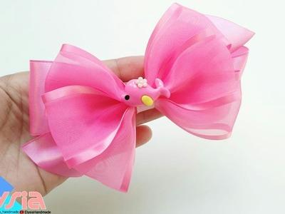 Laço Cutie Organza Ribbon Bow ???? DIY by Elysia Handmade