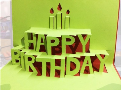 Make A 3D Happy Birthday Gift Card Easy